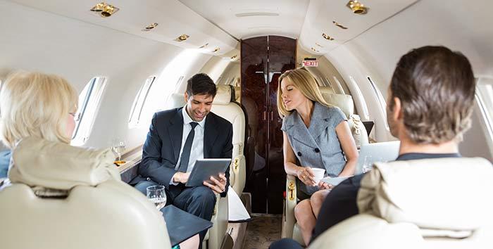 Business jet passengers